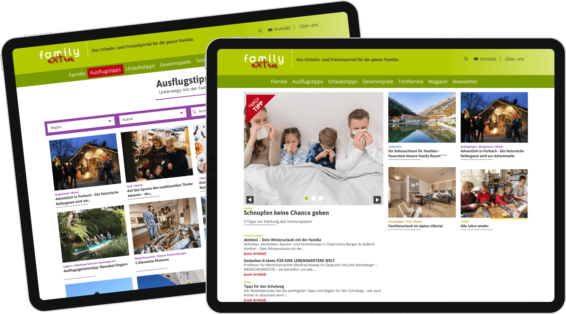 Family Extra auf Tablet